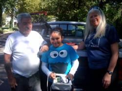 Volunteers Robert, Gracie & Jen